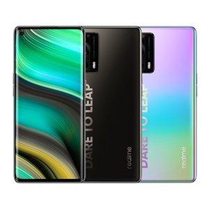 Original Realme X7 Pro Ultra 5G Mobile Phone 8GB RAM 128GB ROM MTK 1000 Plus 64MP AI 4500mAh Android 6.55 inch AMOLED Full Screen Fingerprint ID Face NFC Smart Cellphone