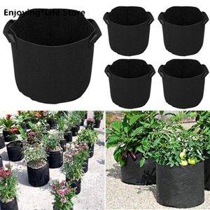 Planters & Pots 5PCS Black Garden Plant Grow Bag Vegetable Flower Pot Planter DIY Potato Washable And Reusable