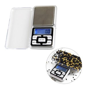 Digital Scales Digital Jewelry Scale Gold Silver Coin Grain Gram Pocket Size Herb Mini Electronic backlight 100g 200g 500g fast shipment DH8575