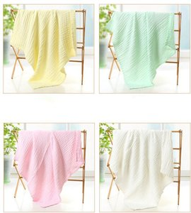 Baby Bath Towel Muslin 6 Layers 100% Cotton Towels Neonatal Child Solid Color Absorb Blanket Swaddle Wrap Bedding wmq857