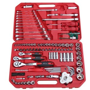 155 pcs outillage automobile car repair tool kit socket ratchet wrench tool set for vehicle