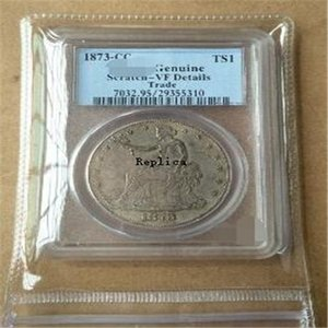 PCGS One Dollar Trade Silver 1873-CC Подлинная AU58 1875-S MS64 // 1881 PR63 PR65