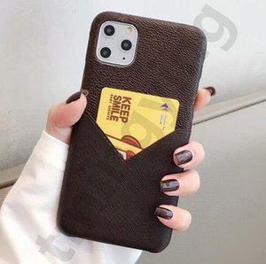 Designer Phone Cases for iPhone 12 mini 11 Pro Max XS XR X 8 7 Plus Protect Case with Card Pocket Back Cover Shell