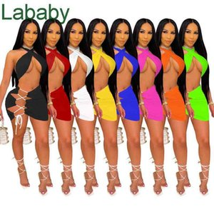 Women Dresses Fashion 2 Pieces Sexy Clothes Off Shoulder Crop Top Bodycon Split Tight Dress Plus Size 2XL Skinny Packaged Hip Skirt
