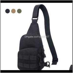 Bags 1000D Tactical Shoulder Portable Man Chest Crossbody Bag Outdoor Utility Backpack For Hunting Camping Climbing Nnzcq 5Hjqk