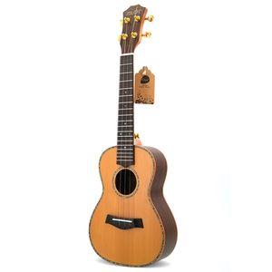 23 Inch Red Pine Rosewood Concert 4 Strings Guitar Carbon String Hawaii Ukulele for Children Beginners UK23121
