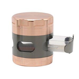 Grinders With Drawer Smoking Accessories Metal Smoke Crusher Diameter 63mm Four Layer Tobacco Grinder EEB6019