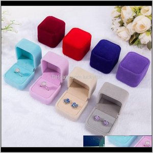 Fashion Veet Boxes Cases For Only Rings Stud Earrings 12 Color Jewelry Gift Packaging Display Size 5Cm45Cm4Cm Ileng 6Gpmz