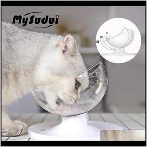 Mysudui antislip bol pour chiens Disque d'animal de compagnie arrondi séparable chat distributeur d'eau chat bols gibres Mascotas DLA PSA W3KK8 CRFKG