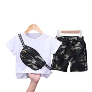 Kids Clothing Sets Boy Suit Boys Child Summer Cotton Short Sleeve T-shirts Shorts Pants 2Pcs Baby Wear 1-5T B4935