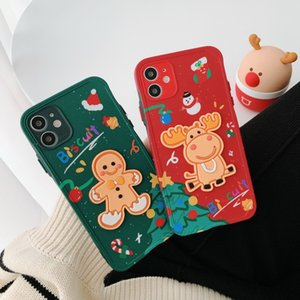 Cookie man or Deer patch phone cases color button lens full package for iPhone 12 11 pro promax X XS Max 7 8 Plus