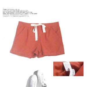 Women's Shorts Solid lace up slacks 2020 summer new Korean simple wide leg A-line Hot Pants Large