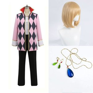 New Howl's Moving Castle Howl Cosplay Costume Stage Performernce Halloween earrings necklace