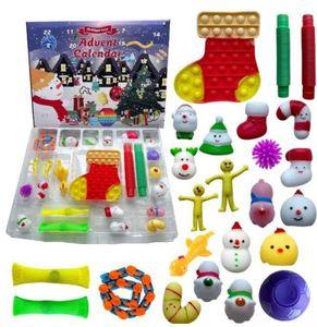 50%off Fidget Toys Christmas Blind Box Favor 24 Days Advent Calendar Kneading Music Gift Boxes Countdown Children's 500pcs