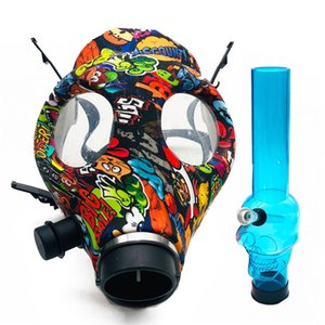 Silicone Mash Smoke Gas Mask Pipes Bongs Hookah Water bubbler Acrylic Bong Pipe Oil Rigs Dab Tool Smoking