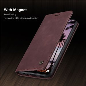 CaseMe Original Retro Magnetic Card Wallet Phone Cases For Huawei Y7A P Smart 2021 P40 Lite Nova 6SE 7i Mate 30 Pro