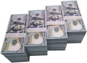 50%off Movie Prop Money Full Print 2 Sided, Play Money One Stack 100 pcs 100 Dollar Bills for Movies,Kids and Party