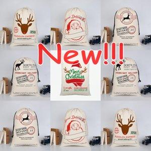 Kawaii Рождественские холст подарок конфеты сумки дома крытый рождественские украшения подарки пакеты Drawstring 50x70cm