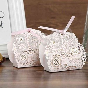 Paper Gift Bags Lace Hollow Wedding Candy Box Flowers Pattern Creative Candy Party Sweets Gift Packaging Boxes Favors Boxes BH4145 WXM