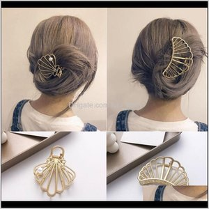 Accessories Crab For Women Metal Pearls Shark Clip Hair Claw Bezel Fashion Girls Makeup Geometry Hairpin Abkcx 5T6M4