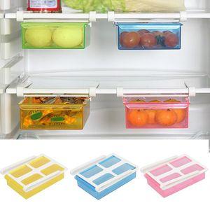 Slide Fridge Freezer Organizer Refrigerator Storage Tray With Lid Rack Reusable Shelf Drawer Organization Cutlery MD7 Bottles & Jars