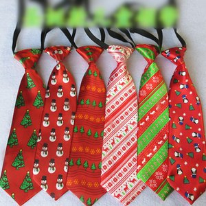 Adult students Christmas neck tie 8 color 27*7cm cartoon for business party gift X-mas neckties