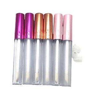 Tubos transparentes vazios do lipgloss 2.5ml garrafas de embalagem cosméticos da tampa colorida 50pcs100pieces que congelam os recipientes plásticos do esmalte do esmalte J