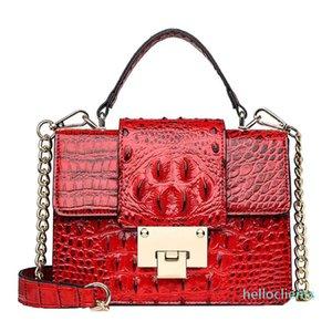 Ladies Party Handbags Fashion Women Vintage Alligator Leather Crossbody Bags Ladies Buckle Messenger Bags Handle Bag