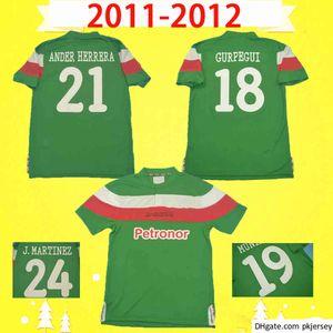 Final 2011 2012 Retro Athletic Bilbao Jersey Jersey 11 12 Toquero Camicia da calcio Uniforme Vintage Martinez Uniforme Llorente Susaeta de Marcos Spagna