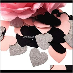 Banner Flags Festive Supplies Home Garden Drop Delivery 2021 100Pcs Star Heart Table Confetti Sprinkles Birthday Party Wedding Decoration Spa