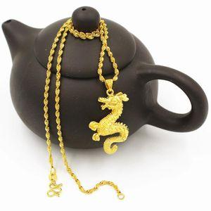 Ожерелья подвеска Vamoosy Dubai 24K Gold Hippocamm Мода для женщин Винтаж Не исчезайте длинное ожерелье 2021 Свадебные украшения