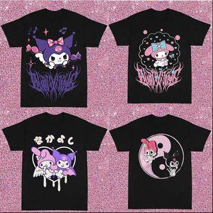 Hip Hop Women T Shirt y2k Harajuku Kawaii Gothic Punk Rap Street