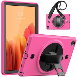 Defender shockproof Case Robot military Extreme Heavy Duty 360 Rotating Stand + Should Strap for ipad 10.2 mini 5 Galaxy TAB A7 T500