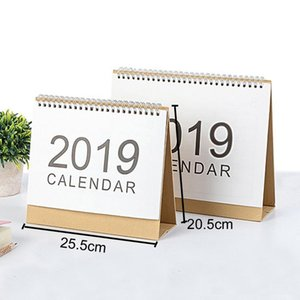 Wholesale Office Desktop White Stand Simple Large Size Calendar 2019 Writable Weekly Planner Monthly List Plan Daily Calendar DH0645
