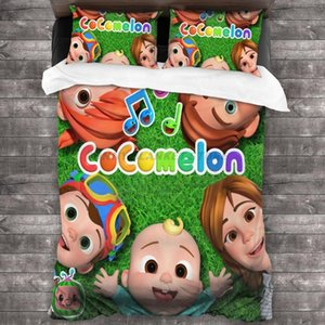 Bedding Sets Cocomelons Kids Comforter Set For Boys Girls, Soft Microfiber Twin Size, Sheet With 2 Pillowcases