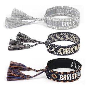 Armband handgemachte Freundschaft bestickt Für Frauen Verstellbare Seil Quaste Armbänder Großhandel Vintage Schmuck