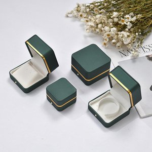 Jewelry Pouches, Bags Luxury Green Box Ring Bracelet Bangle Case Peadant Holder Storage Organizer Household Store Packaging