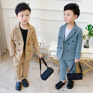 Boys Formal Blazer Suit Kids Jacket Pants 2Pcs Wedding Tuxedo Set Fashion casual kids suits party outfits