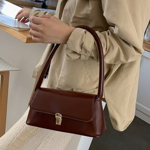 New 2021 Soft PU Leather Women's Handbags Leisure Hasp shoulder Bags Flap Crossbody Bags Female Trendy Portable Solid Tote Bags C0508
