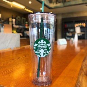Starbucks Curs Class Classic Mermaid Логотип Печатная пластиковая / тиснение прозрачная соломенная чашка