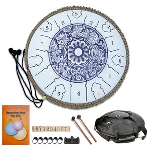 12 Piece wholesale Steel Tongue Drum 13 inch 15 notes D Key Painted Percussion Instrument for Professional Players