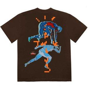 Женская футболка Travis Scott Cactus Jack Trails Цифровая футболка Мужчины Женщины Astroworld T Рубашка Мужские Tees Harajuku Streetwear ROQD
