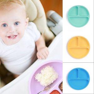 Platos para niños Baby Silicone Sucker Bowl Baby Smile Face Placa Vajilla Set Smile Face Baby Weatware Set Niños Plate 908 x2