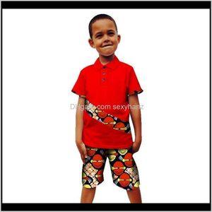 Ethnic Clothing Kids Summer Clothes Boy Print Top Pants Suit Children Bazin Richen Dashiki Robe African Dresses For Women Men Wytvh Zp8L5