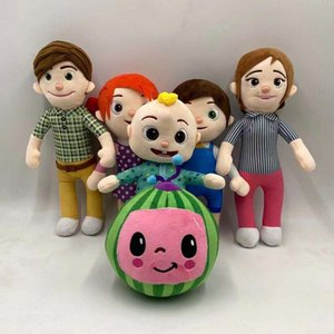 15-33cm Cocomelon Peluche Toys Soft Favor Familia de dibujos animados JJ Sister Hermano Mamá y Papá Toy Dall Dall Dalls Gifts Gifts