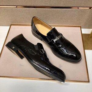 2021 İlkbahar Yaz Rahat Hakiki Deri Tuval Ayakkabıları Erkekler Set Ayak Moda Markaları Elbise Pjkak004