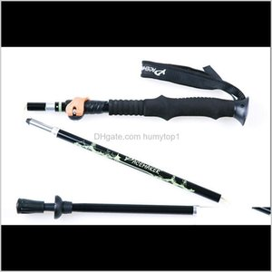 Poles High Strength Aluminum Alloy Walking Alpenstocks Climbing Staff Folding Nordic Hiking Sticks Ultralight Adjustable Cane Trekking Hpozv
