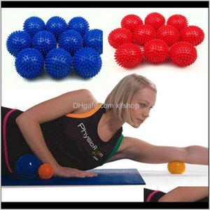 Balls Supplies Sports Outdoors Drop Delivery 2021 Arrival Highquality 7Cm Pvc Mas Hand Ball Environmentally Nontoxic Barbed Fitness Yoga Prod