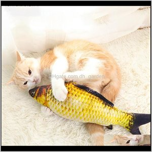 Soft Plush 3D Shape Cat Bite Resistant Interactive Gift Catnip Toys Stuffed Pillow Doll Simulation Fish Playing Toy Ylige Vtmrr