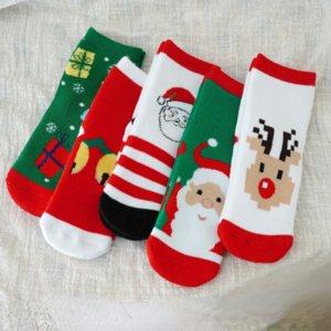 5Pairs lot 2021 Baby Socks for Kids Girls Boy Cotton Stripe Cartoon Animals Summer Toddler Knitted Socks Newborn Baby sock socks's wholesales